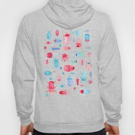 Watercolor Beetles Hoody