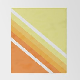 Retro Orange n' Yellow Lines Throw Blanket