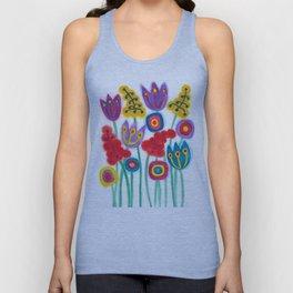 raw flower garden with tulips Unisex Tank Top