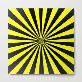 Starburst (Black & Classic Yellow Pattern) Metal Print