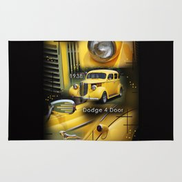 1938 Dodge 4 Door  Rug