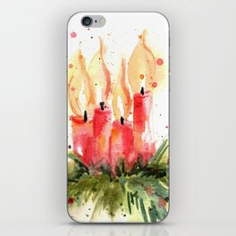 Christmas Candles iPhone Skin