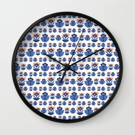 Abstract Geometric Dot Vector Pattern Wall Clock