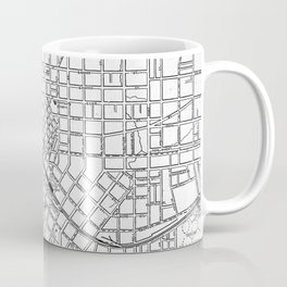 Vintage Map of Atlanta Georgia (1901) BW Coffee Mug