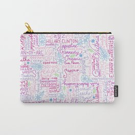 Strong Women (Pink) Carry-All Pouch