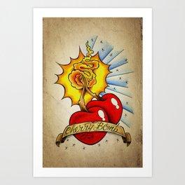 Cherry Bomb - Tattoo Art Art Print
