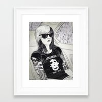 lou reed Framed Art Prints featuring Lou Reed by IvándelgadoART