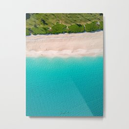 Morning walk on the beach Metal Print