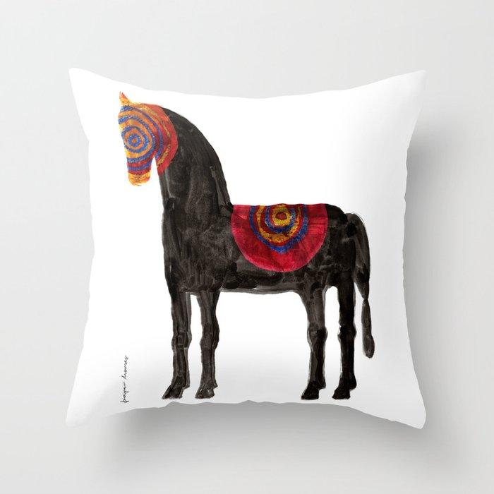 Horse (Bronco) Throw Pillow