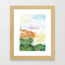Let's Fly Away Watercolor Painting Framed Art Print