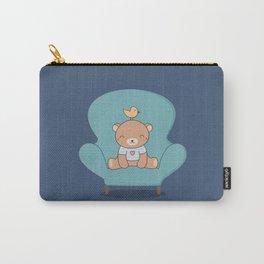 Kawaii Cute Teddy Brown Bear On A Sofa Carry-All Pouch