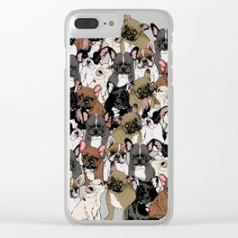 Social Frenchies Clear iPhone Case