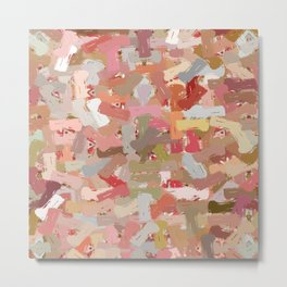 Coral Beads Paint Splatter 5050 Metal Print