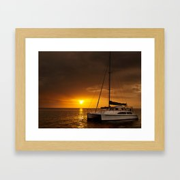 Sunlit Sea Framed Art Print