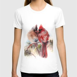 Cardinal Birds Couple T-shirt