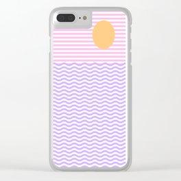 Coastline (Sunset Pink) Clear iPhone Case