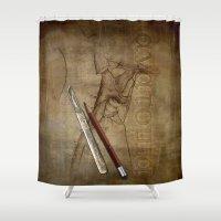 anatomy Shower Curtains featuring Anatomy by ArtAngelo