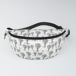 The little deer and the maple tree Fanny Pack