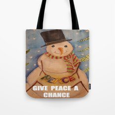 PEACE SNOW MAN Tote Bag
