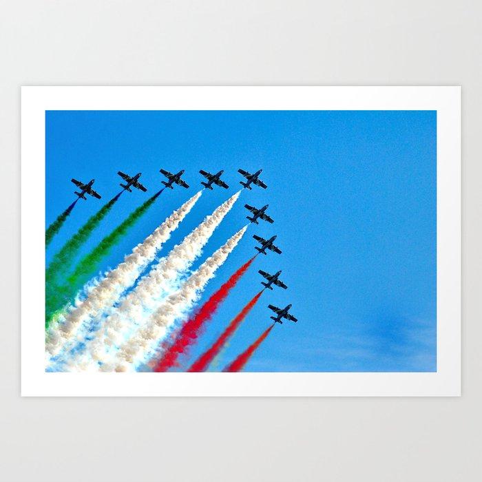 Frecce Tricolori Art Print