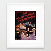 rocky horror Framed Art Prints featuring Rocky Horror by Luiza Abend