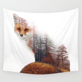 Misty Fox Wall Tapestry