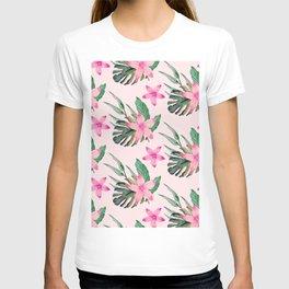 Watercolor Flower Pond T-shirt
