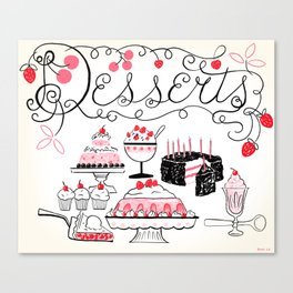 Midcentury Recipes Make Sweet And Lovely Vintage Desserts Canvas Print