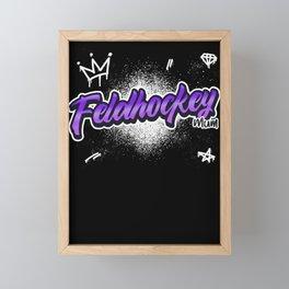 Feldhockey Mum Pop-Art Text-Design Geschenk Framed Mini Art Print