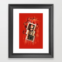 Blurry NES Framed Art Print