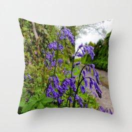 Little Goonreeve Farm - Bluebells Throw Pillow