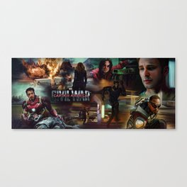 Civil War Trailer Montage (Steve, Bucky, Sam, Tony, Rhodey & Natasha) Canvas Print