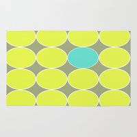 dot Area & Throw Rugs featuring dot. by Bethany Mallick