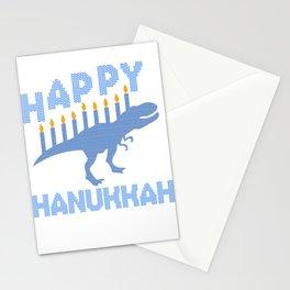 Dinosaur Hanukkah Jewish Festival Gift Stationery Cards