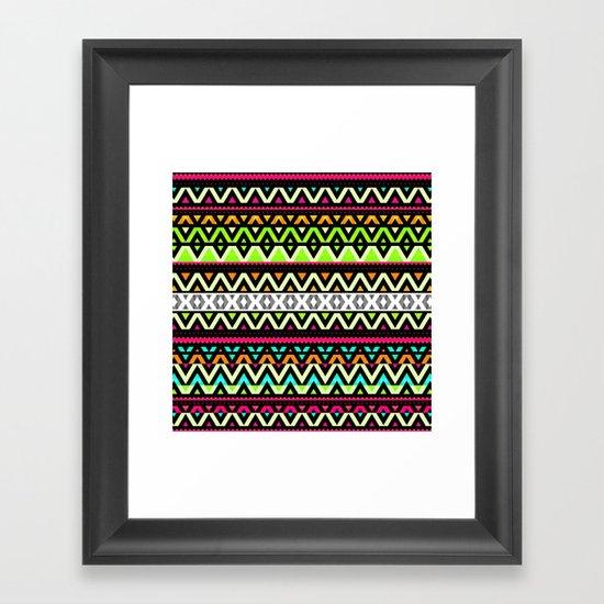 Neon Mix Framed Art Print