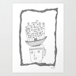 boat castle hat Art Print