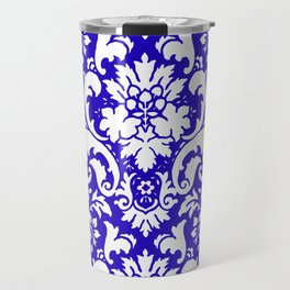 Paisley Damask Blue and White Travel Mug