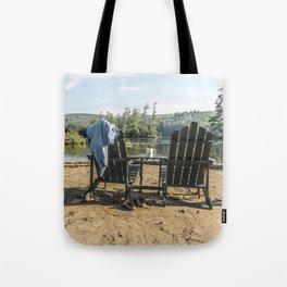 Adirondack Chairs Tote Bag