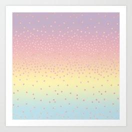 Cute confetti dots Art Print