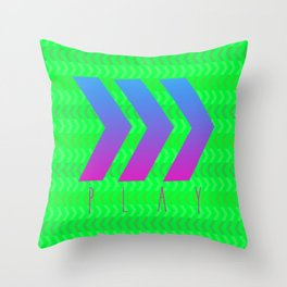 Play Green Mix Throw Pillow