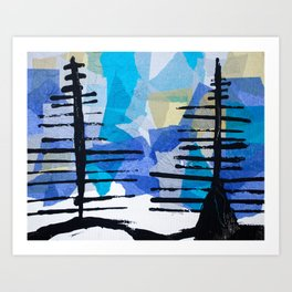 Fir Trees Art Print