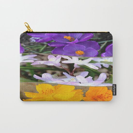 Spring Floral Collage Carry-All Pouch