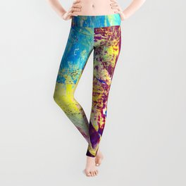 summer colors. colorful background Leggings