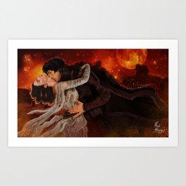"""""""Among my stillness was a pounding heart."""" Art Print"""