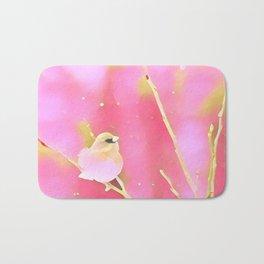 Junco Pink Yellow by CheyAnne Sexton Bath Mat