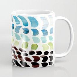 Blue & Green Colorful Aquatic Watercolor Organic Pattern Natural Art Abstract Mid Century Modern Pla Coffee Mug