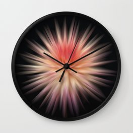 Pulsating Dahlia Wall Clock