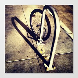 Bicycle Street Heart Canvas Print