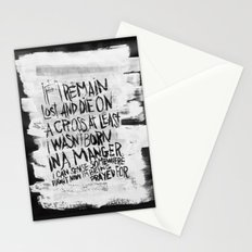 BORN IN A MANGER Stationery Cards