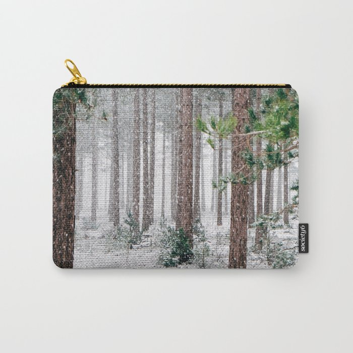 Snow #woods Carry-All Pouch